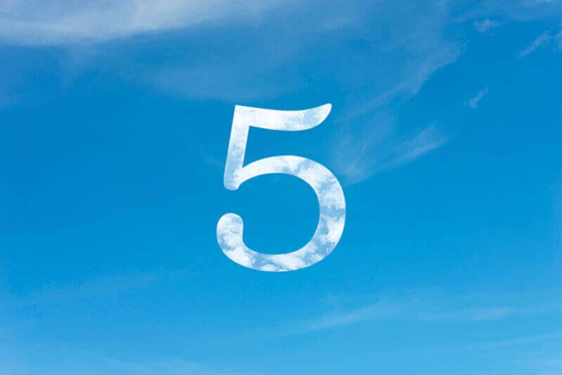 A big 5 in the sky