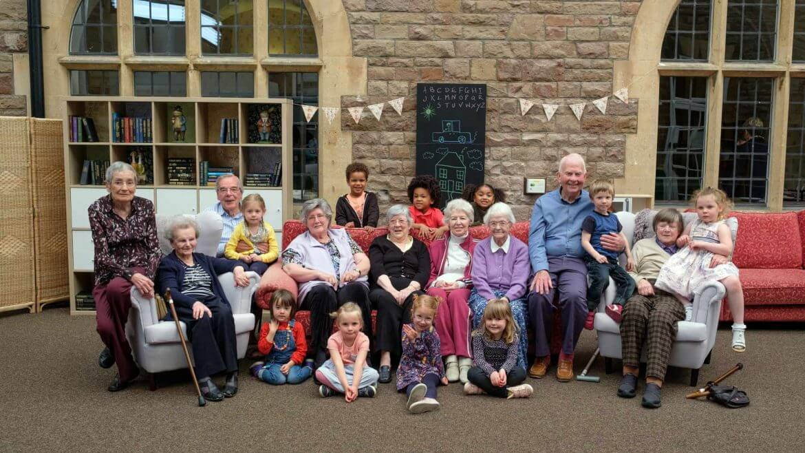 "Group shot of ""Old People's Home For 4 Year Olds"" United Kingdom cast"