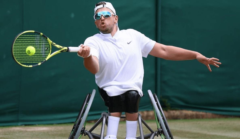 Dylan Alcott at Wimbledon